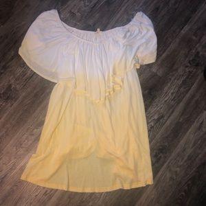 Ombré off the shoulder dress